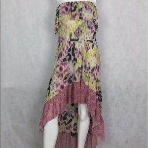 Anthropologie dress multicolor strapless size M